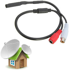 Sensitive Audio Pickup Mic Microphone For CCTV Security System Covert DVR Camera
