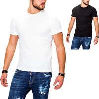 Jack & Jones Herren T-Shirt Kurzarmshirt Herrenshirt Shirt Top Unifarben SALE %