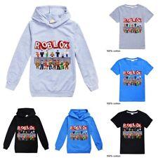 Kids ROBLOX Hoodie Boys Hooded Pullover Casual Tops Sweatshirt Cotton T-shirt AU