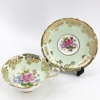 Paragon By Appointment to Her Majesty the Queen Tea Cup & Saucer Pastel Green