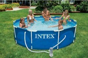 Intex Metal Frame Pool-Set 305 x 76 cm - Swimmingpool - blau mit GS-Pumpe NEU