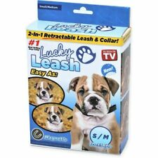 As Seen on TV Lucky Leash Retractable 2 in 1 Magnetic Dog Collar NEW