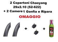 2 Copertoni MTB 29 Bici Mountain Bike 29x2.10  Gomme + Camere + Gonfia e Ripara