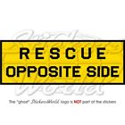 RESCUE OPPOSITE SIDE Stencil USAF AirForce Aircraft (140mm) Sticker, Decal