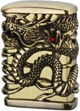 ZIPPO Dragon Tenryu Sky Full Metal Jacket Antique Brass Gold Japan Limited New