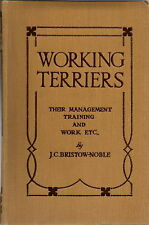 RARE WORKING TERRIERS BY BRISTOW NOBLE 1924 1ST EDITION  RATTING BADGER HUNTING