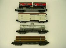 Lot of 4 American Flyer Knuckle Coupler Freight Cars [Lot C12-F23]