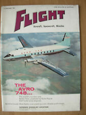 FLIGHT AIRCRAFT SPACECRAFT MISSILES MAGAZINE JANUARY 6th 1961 THE AVRO 748