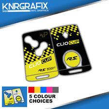KNR0027 CLIO CUP MK4 IV RS RENAULT -  KEYFOB SKIN - KEY STICKER - 5 CHOICES