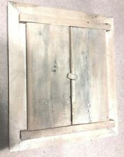 Vintage Two's Company Rustic Wood Mirror With Doors