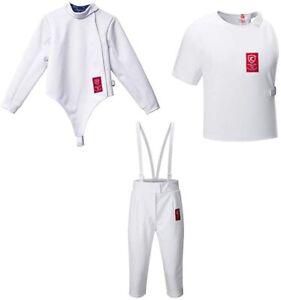 350NW Fencing Uniform Suit,Fencing Jacket Vest Pants Set(Right Hand) (size52)