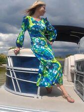 Vintage 70s Tie Dyed EXPLOSIVE Print MOD Dress Maxi Boho Hippie Festival Small