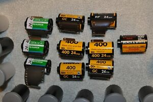 Expired 35mm Film Lot - Kodak & Fujifilm.  - 10 rolls