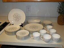 Royal Worcester Bridal Lace ~ 38 Piece Set ~ Dinner Plates Salad Cups Fine Bone