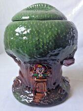 Vintage Keebler Elf Hollow Tree Cookie Jar Advertising Ernie Decal 350 USA