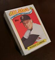50) ROGER CLEMENS Boston Red Sox 1989 Topps All Star Baseball Card #405 LOT