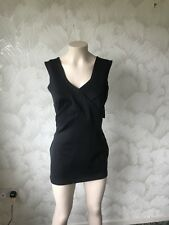 SIZE 18 ASOS BLACK CUT OUT SIDES STRETCH TOP POLYESTER & ELASTANE SEXY MINI DRES