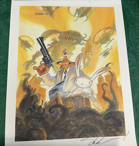 Sam & Max Art Print Signed by Steve Purcell