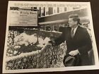 LOT OF 13 AUTHENTIC JOHN F. KENNEDY WIRE SERVICE NEWS PHOTOS EARLY 1960'S JACKIE