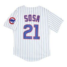 Sammy Sosa Majestic Chicago Cubs Home White Jersey w/ Team Patch Men's XL