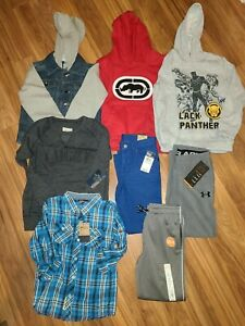 NWT BOYS' CLOTHES LOT ~SIZE 6, 5/6~  WINTER/ SPRING L/S SHIRT PANTS HOODIE LT2