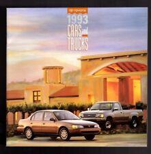 1993 Toyota Car Truck 4 Runner  Celica MR2 Land Cruiser T100 Tercel Brochure