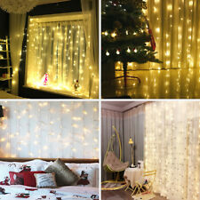 3m 300 LED Curtain Fairy Lights Wedding Indoor Outdoor Garden Party Warm White