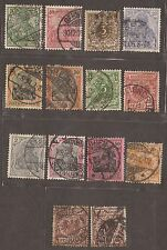 1889 - 1902 GERMAN GERMANY STAMPS USED  SEE SCAN FOR BACK AND FRONT
