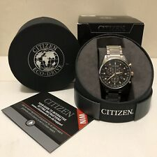 BN Citizen AT2390-58E Eco-Drive Mens Solar Chronograph Stainless Steel Watch