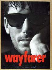 1991 Ray-Ban Wayfarer Sunglasses man photo vintage print Ad