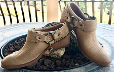 NEW/NIB Frye Carson Boots/Clogs/Mules Natural 7 7.5 retail $278 Harness Leather