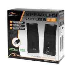 NEU: Media-Tech USB Speakers / Boxen / Lautsprecher mit Strom übers USB Kabel 2W