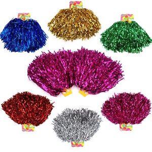 2 Stück Pompons Cheerleading Cheerleader Tanzwedel Puschel 1 Paar Pompon Pom Pon
