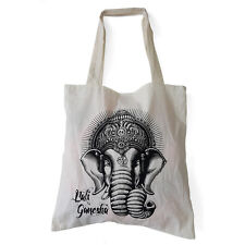 Cotton Elephant Shopping Bag  Bali Ladies Shoulder Beach Fabric Tote Canvas Bag