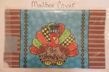 """Magnetic Mailbox Cover """"Be Thankful"""" Patterned Thanksgiving Turkey, Colorful"""
