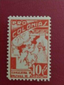 SELLOS GUERRA CIVIL - ARAGÓN - PRO COLONIAS - 10 CTS