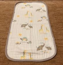 Angel Dear Soft Bamboo Fiber Burp Cloth - Elephant, Turtle, Giraffe, Sun