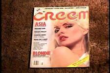 CREEM MAGAZINE AUG 1982  VF BLONDIE DEBBIE HARRY ROCK & ROLL