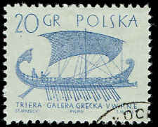 Scott # 1126 - 1963 - ' Greek Trireme ', Ancient Ships