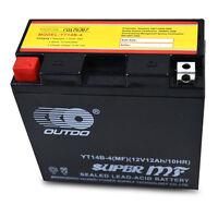YT14B-BS 12V 12Ah Battery For Yamaha 1000/1100cc FZS1000 FZ1 XVS1100 V-Star USA