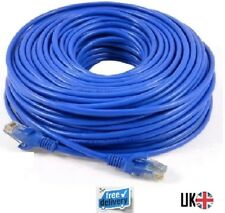 40m METRE LONG RJ45 CAT5 CAT 5 High Speed Ethernet Lan Network Blue Patch Cable