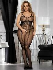 Womens Sexy/Sissy Plus Size Lingerie Fishnet Bodysuit Body Stocking Bodysuit