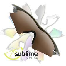 POLARIZED Dark Brown Replacement Lenses For Oakley M Frame Sweep ~ Bronze