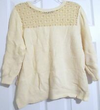 NY Collection Yellow Knit Sweater Layer 3/4 Sleeve Top Sz XLarge XL EUC Trendy