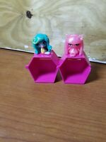 Lot of 2 PVC Monster High MH minis mini lot Lagoona Candy Ghoul Rochelle Goyle