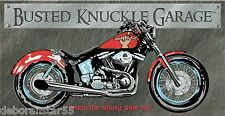 BUSTED KNUCKLE GARAGE Motorcycle Tin Sign Biker Gift Retro Metal Tin Sign 1165