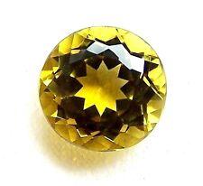 Turmalin  grün  gelb  gold  10 mm  rund   4,54 Carat