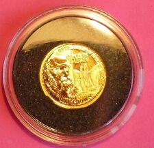 2009 TDC Charles Darwin 200 Ann. una Corona 24 Ct Oro moneda de prueba y Coa