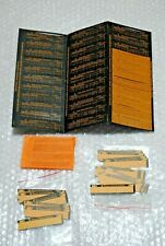 LOT NEUF MASTER LIBRARY PROGRAM LABEL CARDS MAGNETIC TEXAS INSTRUMENTS TI-58 59