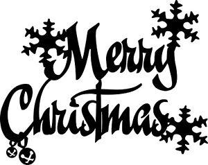 MERRY CHRISTMAS A5 VINYL STICKER DECAL WINDOW DISPLAY CHEER CHRISTMAS 020